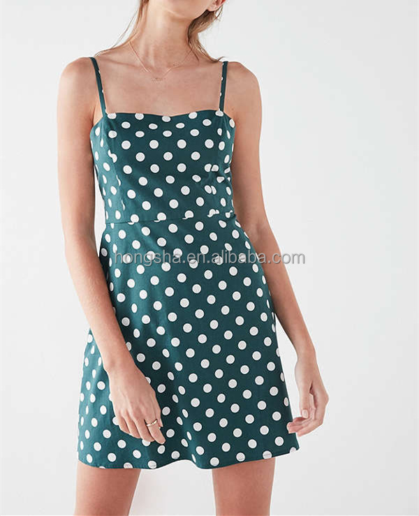 Vintage Sexy Casual Polka Dot Poplin Pencil Dress Sexy Girls Photo without Sleeves Cloth hsd2255