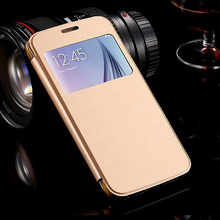 Champaign Gold Business Style Mobile Leather Case Flip Cover for Samsung Galaxy S4