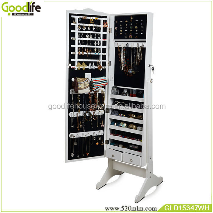 GLD15347Mirrored Jewelry Cabinet-1