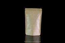Kraft Paper Side Gusset Coffee Bean Packaging Bags Coffee Pouch With Zipper