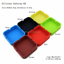 Customization Colorful Soft Silicone Free Pocket Ashtray