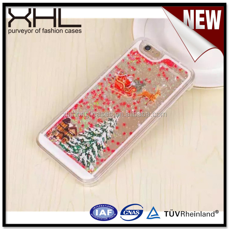 For Iphone6 PIus Christmas tree snowflake liquid Hot-sale cell phone case