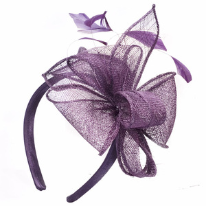 Ladies Sinamay Bow Fascinator for Derby & Wedding