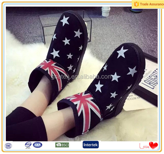 Ankle fur UK flag citi trends flat boots