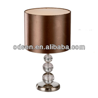 glass ball decorative metal base bowl table lamp