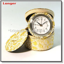 Promotion gift leather travel clock LG2029