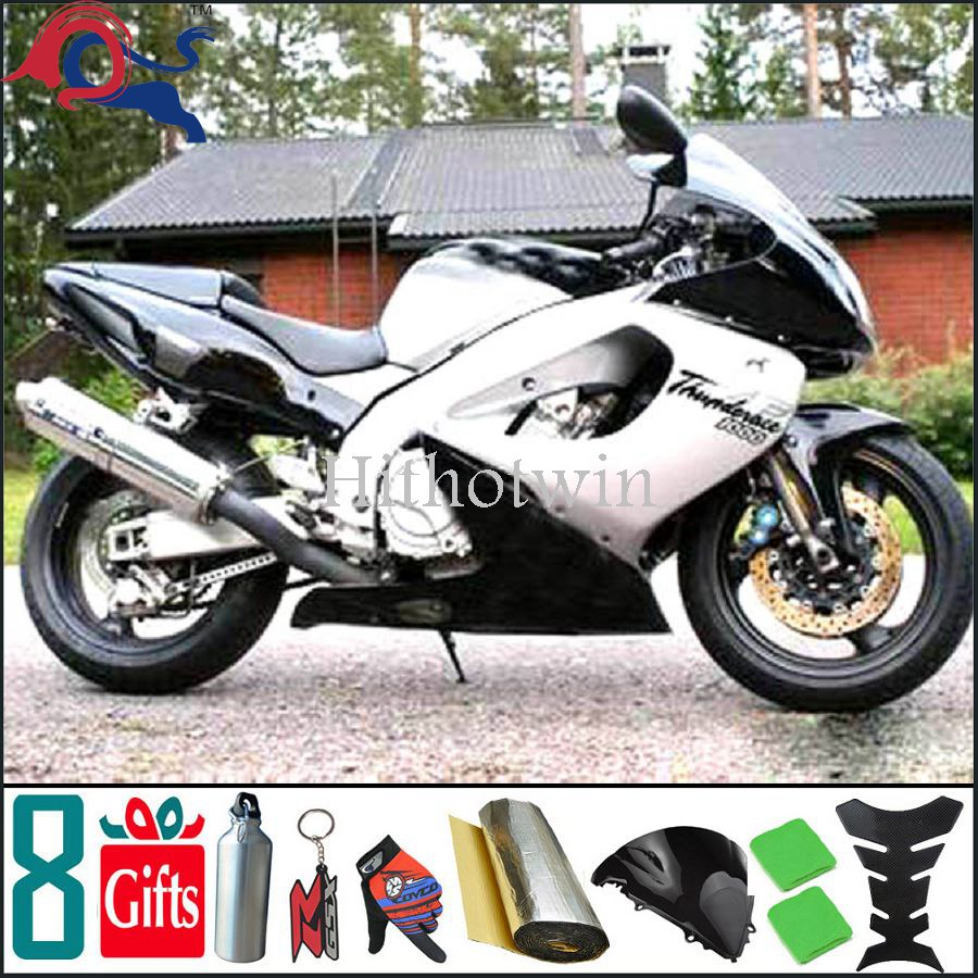 white black For yamaha YZF1000 1996 1997 1998 1999 2000 2001 2002 2003 2004 2005 2006 2007 Fairing YZF1000 1996 2007 Thunderace