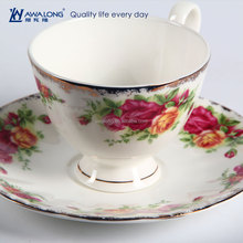 Whosale Bulk tea <strong>cups</strong> and saucers cheap / bone china tea <strong>cups</strong> with flower decal