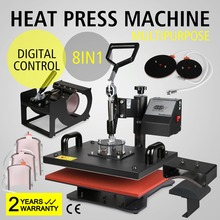 ShareProfit Heat Presses Hat Press Heat Press Machine for T Shirts Cup Mug 8 in 1 Multifunctional Transfer Sublimation T Shirt P