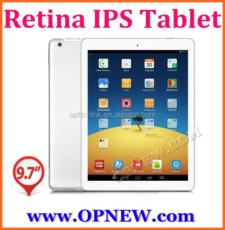 9.7 inch Retina IPS 2048*1536 Quadcore RK3188 4G RAM 64GB ROM Android5.0 Camera MP5.0 Build-in Bluetooth Wifi Tablet PC