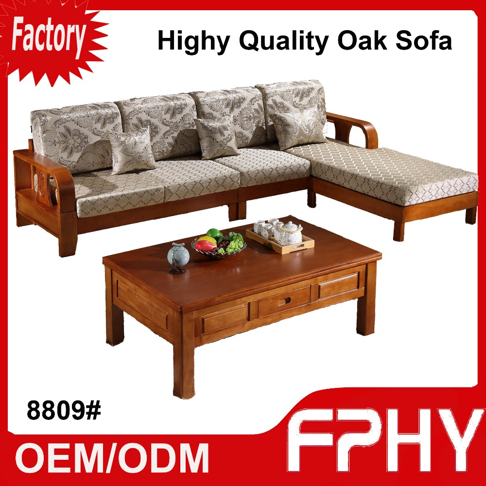 Living room furniture 8809# wooden dunlop sofa cum bed designs