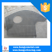 Wholesale Galvanized Press Locked Serrated Steel Bar Grating Weight, Flat Bar Grating