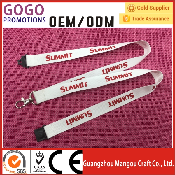 2017 Fast delivery in 3-5days logo customized lanyard promotional lanyard with printing