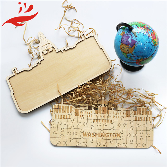 high quality wood world country map for toys puzzle