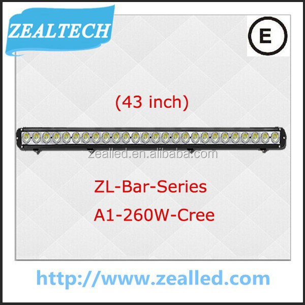High brightness 260W 43inch for SUV Pick-up truck light bar