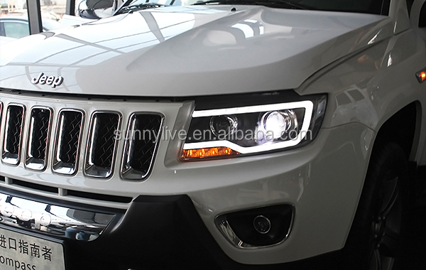 For Jeep Compass 2011-2015 LED Head Light Black Color
