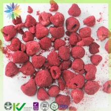 healthy snack food freeze dried raspberry