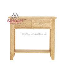 301 American solid white oak 2 drawer console table/ living room furniture