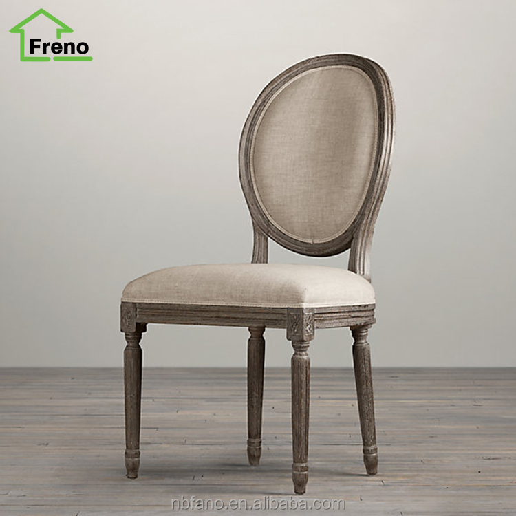 French Style Wooden Dining Chair Louis Ghost Chair