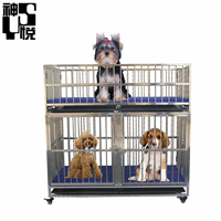 Customize 3 rooms dog cage for dogs Modular cheap stainless steel dog kennel crate