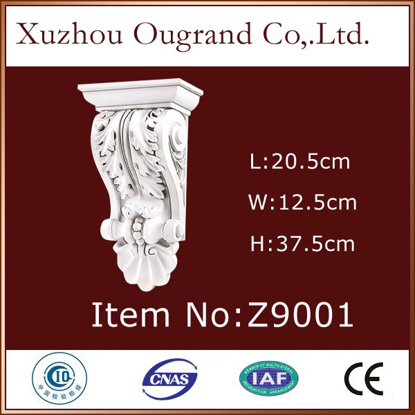 decorative cherry pu wood corbels for house design