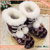 2017 new ladies custom women indoor winter boots