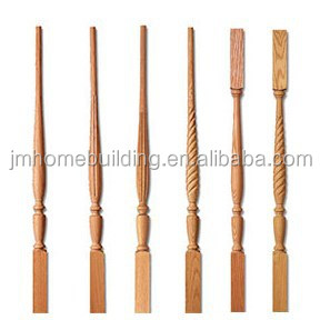 hardwood baluster for staircase indoor stairs