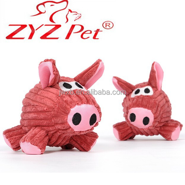 eco friendly pig shape pet toy with squeaky from Shanghai Jinwang