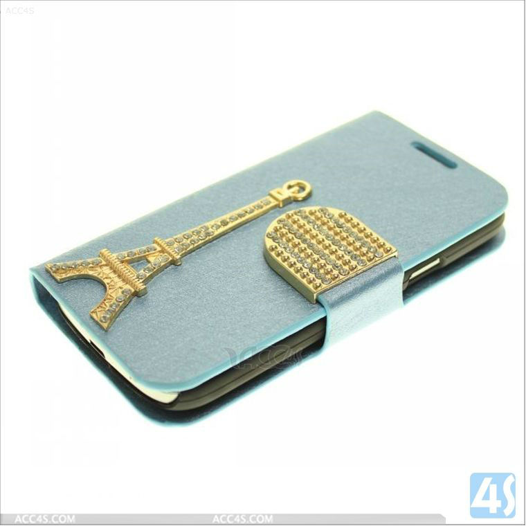 2013 Newest Product Purse Leather Case with Diamond Buckle for Samsung Galaxy S4 Mini/i9190 P-SAMI9190CASE027