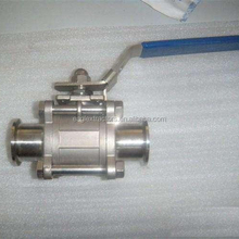 Stainless Steel Sanitary 3 Piece Full Port DN50 DN40 Tri Clamp Ball Valve