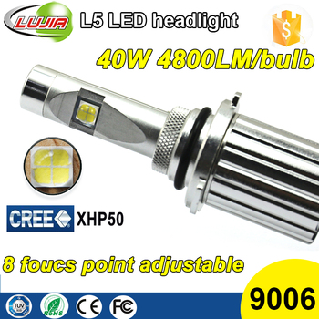 2016 Super Bright Fanless All in One 40W 4800lm Crees XHP50 L5 9006 Car Auto Led healdig kit bulbs 9006 HB4 P220 13 Conversion