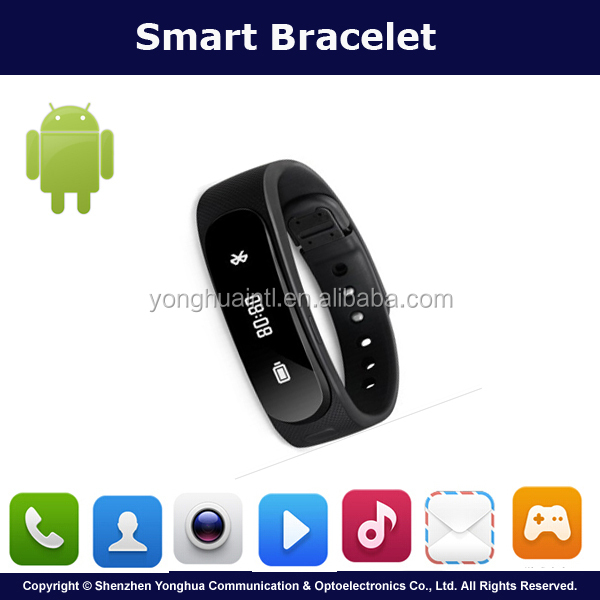 2016 Factory Made Black Water Proof Smart Calling Bracelet For Sleep Monitor