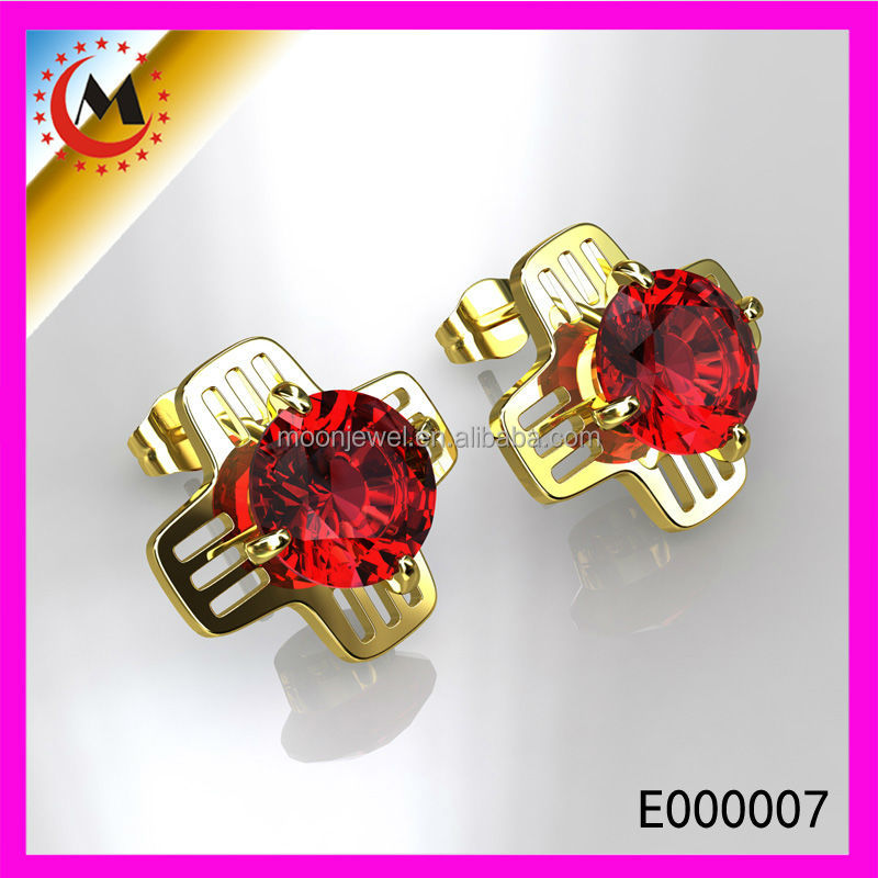 ALIBABA NEW STONE CHILDREN EARRING IN GOLD,GOTHIC EARRINGS,HOT SELLING CHILDRENS SEX PHOTOS EARRING