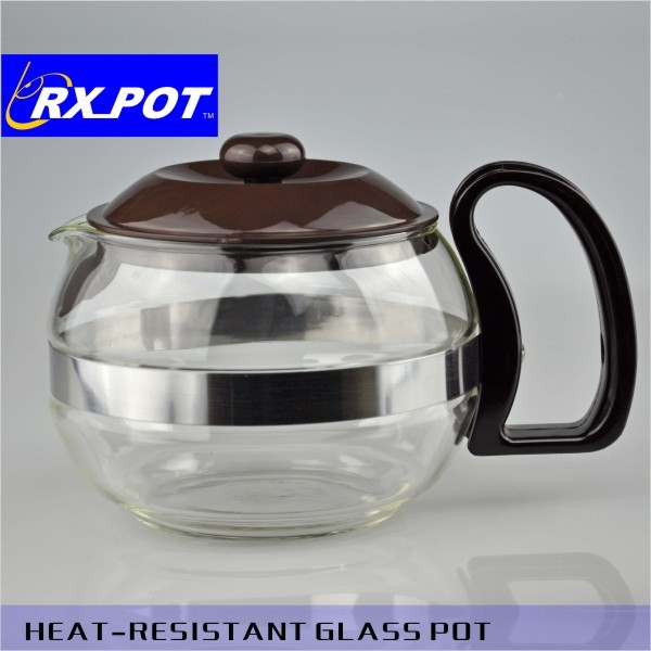 Pyrex glass coffee pot for family use