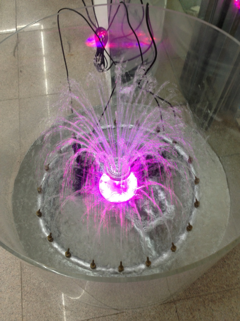 Export high quality garden design water fountain with colorful led light