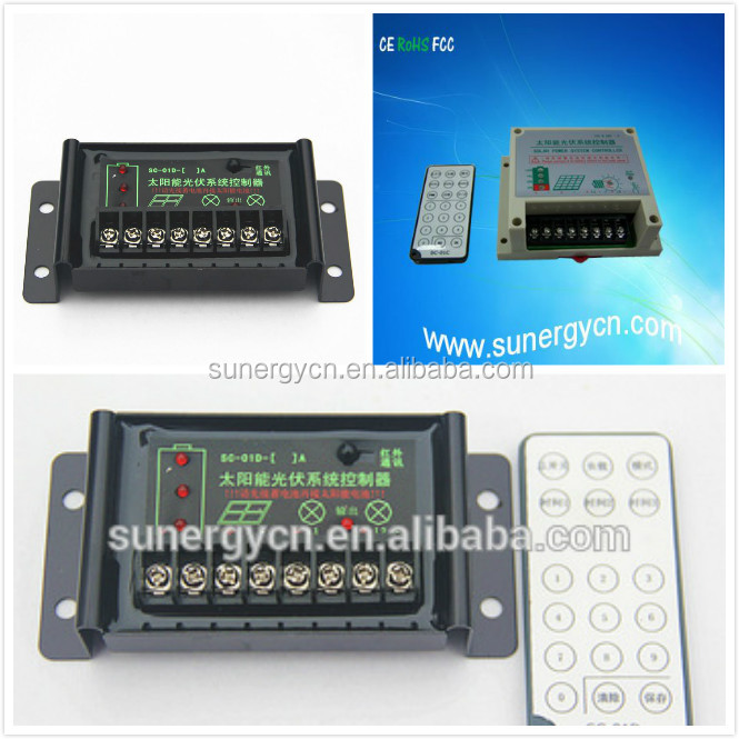 battery voltage 12V 24V 10A remote control solar panel max power 180W 360W charge controller