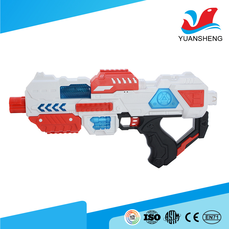 hot products 2017 fashion battery operated electric plastic safe toy gun with light and music