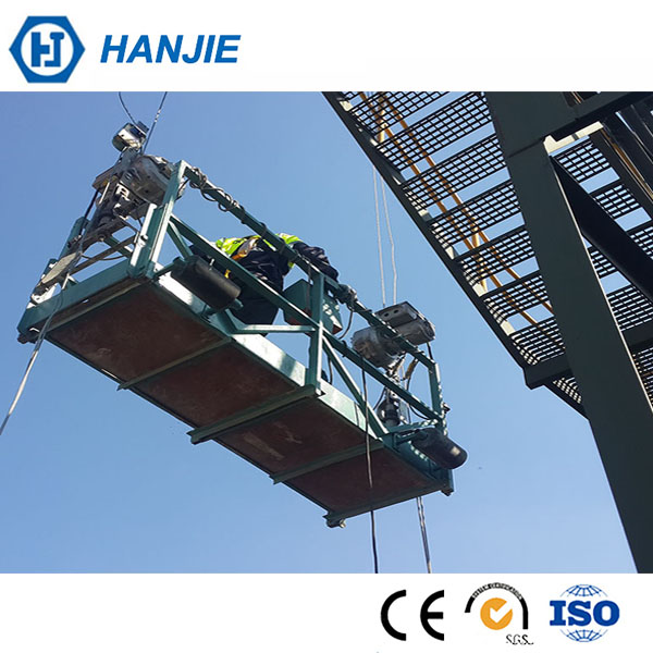 HANJIE ZLP 630 windows cleaning working platform,Electrical lifting scaffolding platform