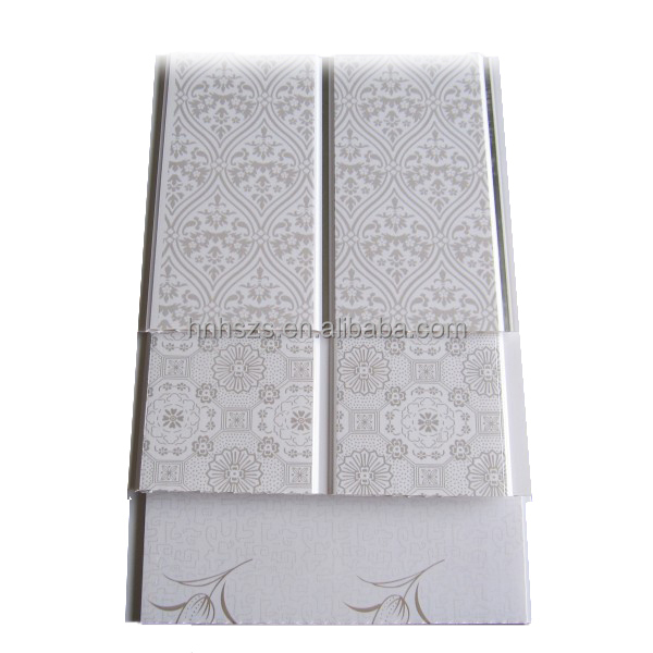 Decorative interior wall cladding PVC panels