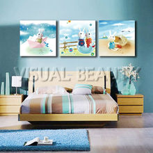 Wholesale Home Decor Canvas Prints Cartoon Picture for kids room