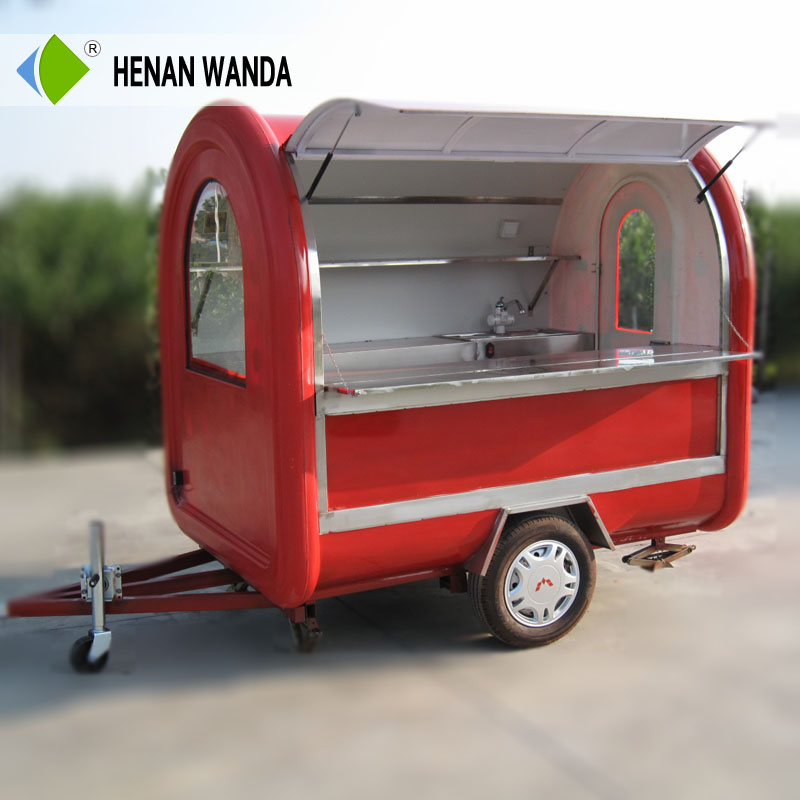 China Mobile food cart design / stainless steel trailer