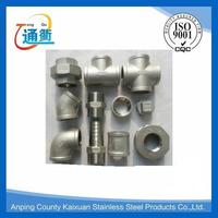 casting threaded stainless steel pipe fitting names and parts