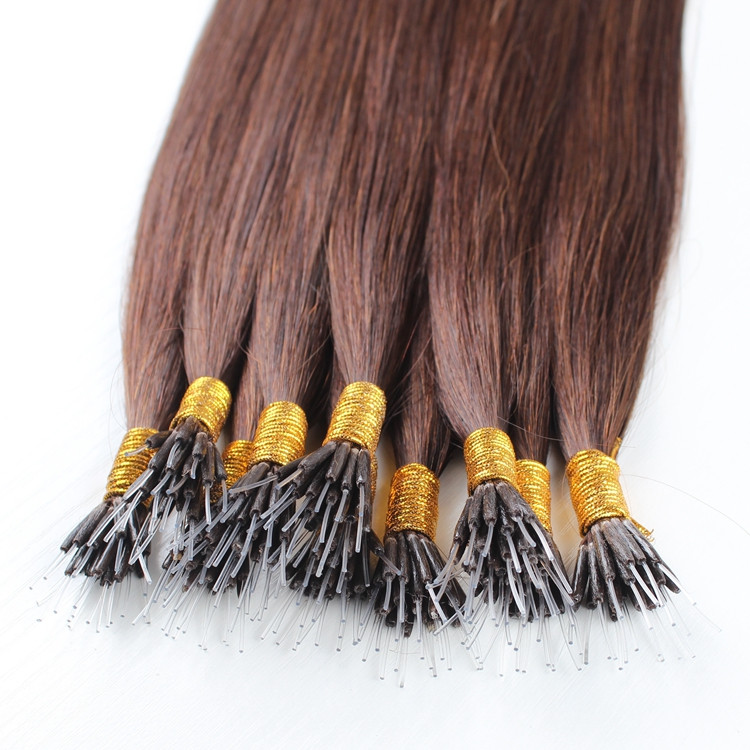 Aliexpress uk high quality double drawn silky and glossy straight micro/nano ring hair extensions