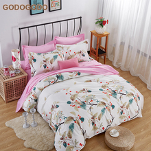 Eco-Friendly Soft 8Pcs Custom Printing 100% Cotton Bed Sheet Queen Size King Bedding Sets Luxury