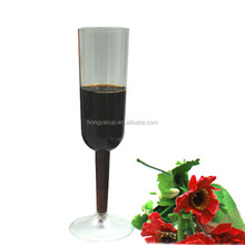 7 Ounce Detachable Polystyrene Disposable Champagne Flutes Glass