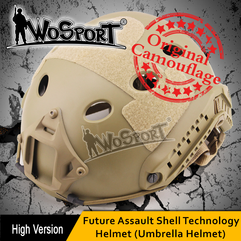 WoSporT adjustable combat tactical fast protective race helmet for paintball activity