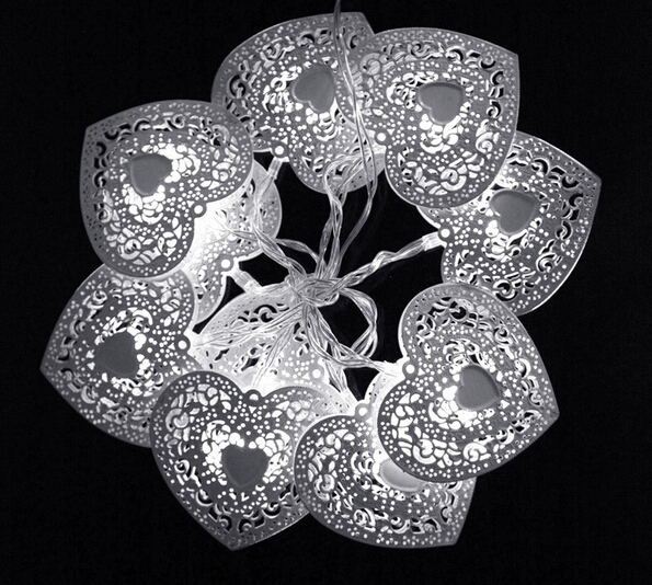 Beautiful 10LED Heart Shaped Christmas String Light Festival Halloween Party Wedding Decor Indoor/Outdoor
