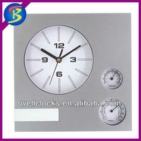 Plastics Weather Station Temperature And Humidity Wall Quartz Clock