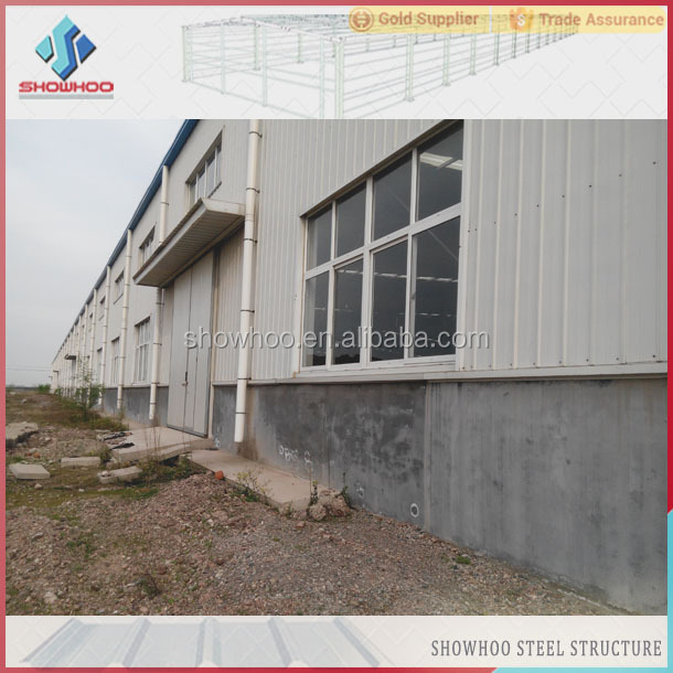 lightweight steel space frame industrial building construction factory warehouse building