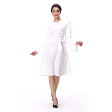 Latest fashion long top design White blouse for women Long sleeve peplum top